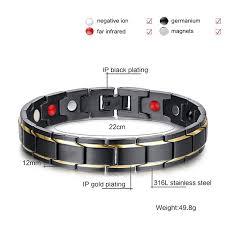 magnetic gold bracelet images Jeracol titanium magnetic bracelets for men balance magnets pain jpg