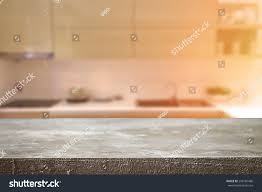 Kitchen Background Cement Desk Space Kitchen Background Product Stock Photo 298160486