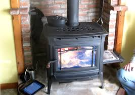 a hearthstone manchester free standing wood stove installation in