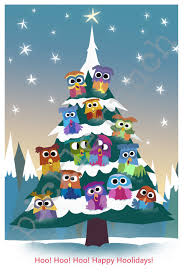 owl christmas owl christmas card owl card owl christmas tree pickle