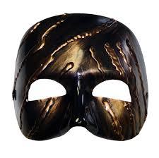masquerade masks mens claude bronze painted masquerade mask for men