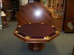 round poker table with dining top woodloft com locally custom made texas hold em and poker tables