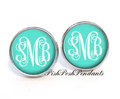 monogrammed earrings monogrammed earrings monogram earrings gift for monogram