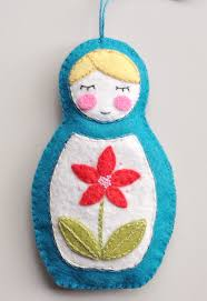30 wonderful diy felt ornaments for matryoshka doll