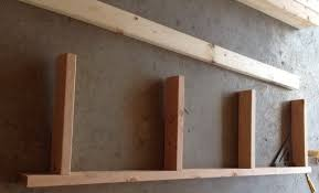 using wood garage shelves diy how to build a shelving unit with wood