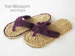 crochet pattern indoor outdoor violet flip flops 4 women s crochet pattern indoor outdoor violet flip flops 4 women s sizes pdf instant download flip flops for women house slippers summer sandals