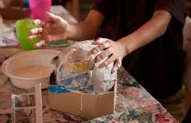 paper mache spider craft