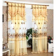 Sheer Curtains With Valance Chagne Sheer Panel Curtains Yarn Fabric No Valance