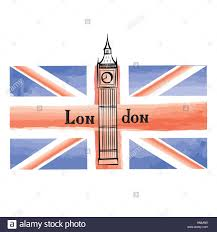 London Flag Grunge Uk Flag With London Famous Westminster Abbey Tower Travel