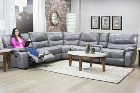 Gray Reclining Sofa by Lotus Leather Gray Reclining Sofa Mor Furniture For Less