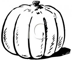 black and white pumpkin for thanksgiving royalty free clipart