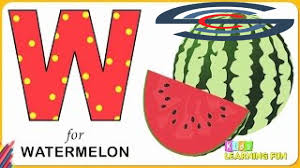 alphabet coloring pages learn letter w w for watermelon