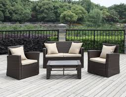 Patio Furniture Lafayette La by Handy Living La Jolla 4 Piece Deep Seating Group With Cushions