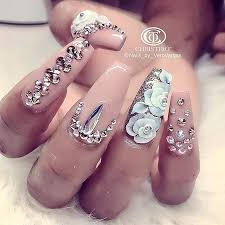 best 25 swarovski nails ideas only on pinterest crystal nails