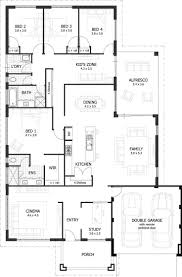 simple four bedroom house plans one storey bungalow architectural