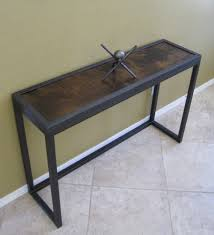 Modern Sofa Tables Modern Industrial Metal And Juniper Console Table Sofa Table
