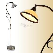 Standleuchten Wohnzimmer Beleuchtung Edle Stehleuchte Im Jugendstil In Bronze E27 Fassung Stehlampe Für