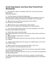 best ideas of great depression worksheets on cover huanyii com