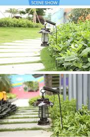 garden solar power anti mosquito led light indoor outdoor