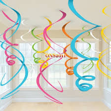 hanging ceiling decorations mixed swirls hanging ceiling decorations birthday party baby