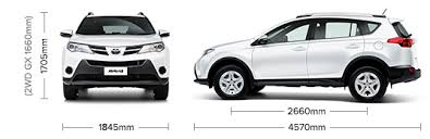 dimensions of toyota rav4 toyota rav4 size images search