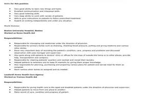 Sample Resume Home Health Aide by Home Health Aide Resume Sample Home Health Aide Resume Examples