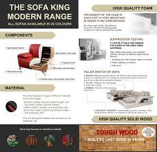 the sofa kings h2204b modern corner sofa leather lounge italian couch black white