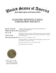 cremation society of america trademark application granted for eastern pennsylvania cremation