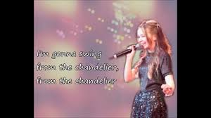 Gonna Swing From The Chandelier Chandelier Connie Talbot Cover Lyrics Youtube