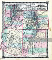 Map Missouri Missouri 1876 County Map Of Colorado Utah New Mexico Arizona Adair