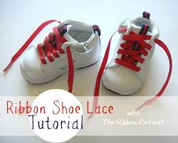 ribbon shoe laces ribbon shoe lace tutorial the ribbon retreat