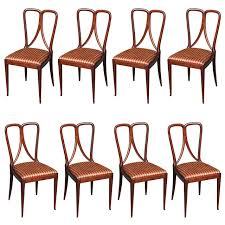 set of 8 dining chairs by guglielmo ulrich modern dining room dining room chairs