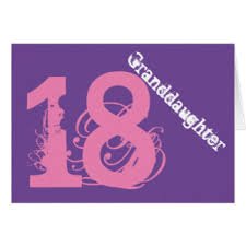granddaughters 18th birthday greeting cards zazzle