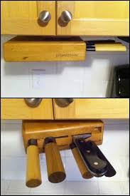 Under Cabinet Knife Holder by Keep Your Knives Out Of Reach Of Children With This Under Cabinet