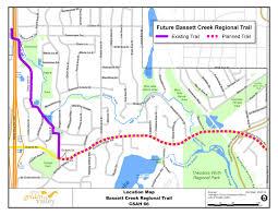 Culver City Map City Of Golden Valley Mn Bassett Creek Regional Trail Study