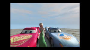 cars movie spiderman and cars racing with lightning mcqueen from disney pixar