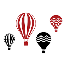 vintage hot air balloon collection wall quotes wall art decal set of four vintage hot air balloons 2 color