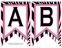 small swallowtail printable banner letters a z numbers 0 9 th