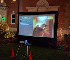 Backyard Projector Mymoonlitmovies U2013 Outdoor Movie Rental U2013 Inflatable Screen Rental