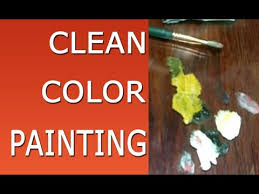 oil painting techniques clean mixing colors youtube