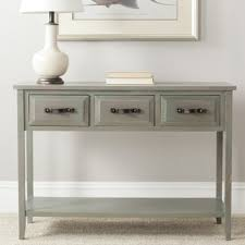 Foyer Table With Drawers Safavieh Aiden Antique Grey Console Table Free Shipping Today