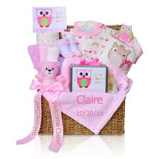 personalized gift for baby look whoo s here baby girl gift box simplyuniquebabygifts