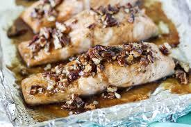 Chicken Breast Recipes For A Dinner Party - praline glazed salmon blackberry