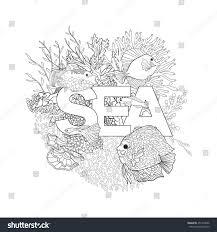 coral reef corals fish word sea stock vector 457210696 shutterstock