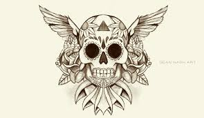 skull tattoo design by seannash on deviantart