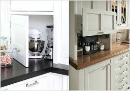kitchen appliance storage cabinet appliance storage ideas all the small kitchen appliances are hidden