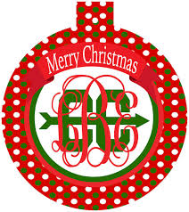 cross country ornaments preppy monogrammed runner christmas