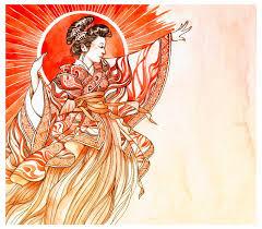amaterasu bright and beautiful japanese shinto sun goddess