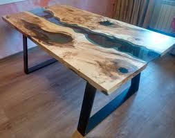 live edge river table epoxy sold live edge river table blue valley with blue