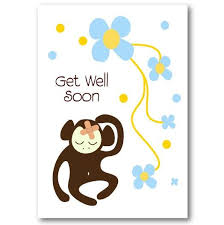 get well soon cards monkey get well soon card not another bunch of flowers